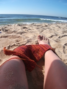 Beach-knitting