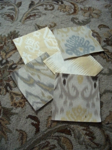 yellow grey ikat