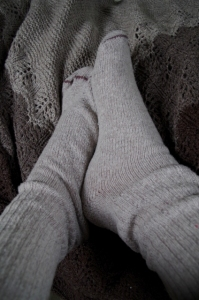 old wool socks-baggy ankles