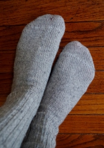 old wool socks
