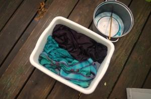 teal dye-during