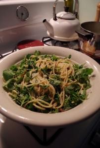 harvest - greens pasta