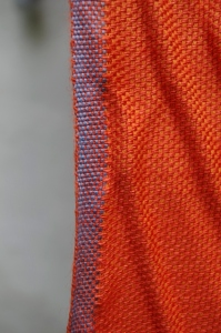 orange fabric detail